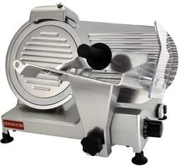 """BESWOOD 10"""" Chromium-plated Carbon Steel Blade Electric Deli"""