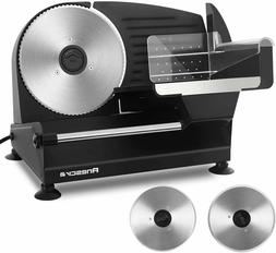 """Anescra Electric Meat Slicer 200W Two Removable 7.5"""" Stainle"""