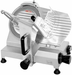 """Zica Commercial Electric Meat Slicer 10"""" Stainless Steel Bla"""