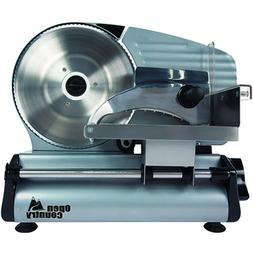 """Open Country FS-250SK 180W Food Slicer, 8"""", Silver"""