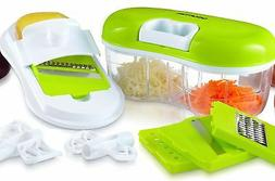 Gourmia GCH9290 Chopper and Grater Set All-in-One Pull Strin