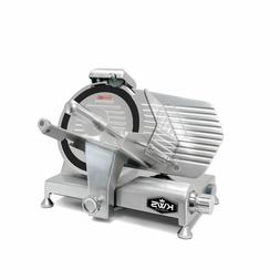 """KWS Metal Collection Commercial 320W 10"""" Meat Slicer MS-10DT"""