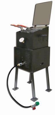 King Kooker 2296 Outdoor Portable Cooker, DLX Black