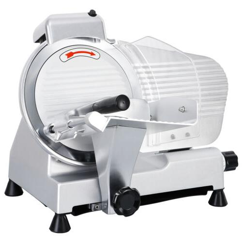 10 Blade Commercial Meat Slicer Deli Cheese Food 530rpm Elec