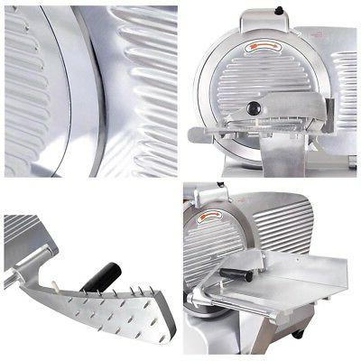 """Commercial 12"""" Blade Meat Slicer Deli Meat Cheese Food Cutte"""