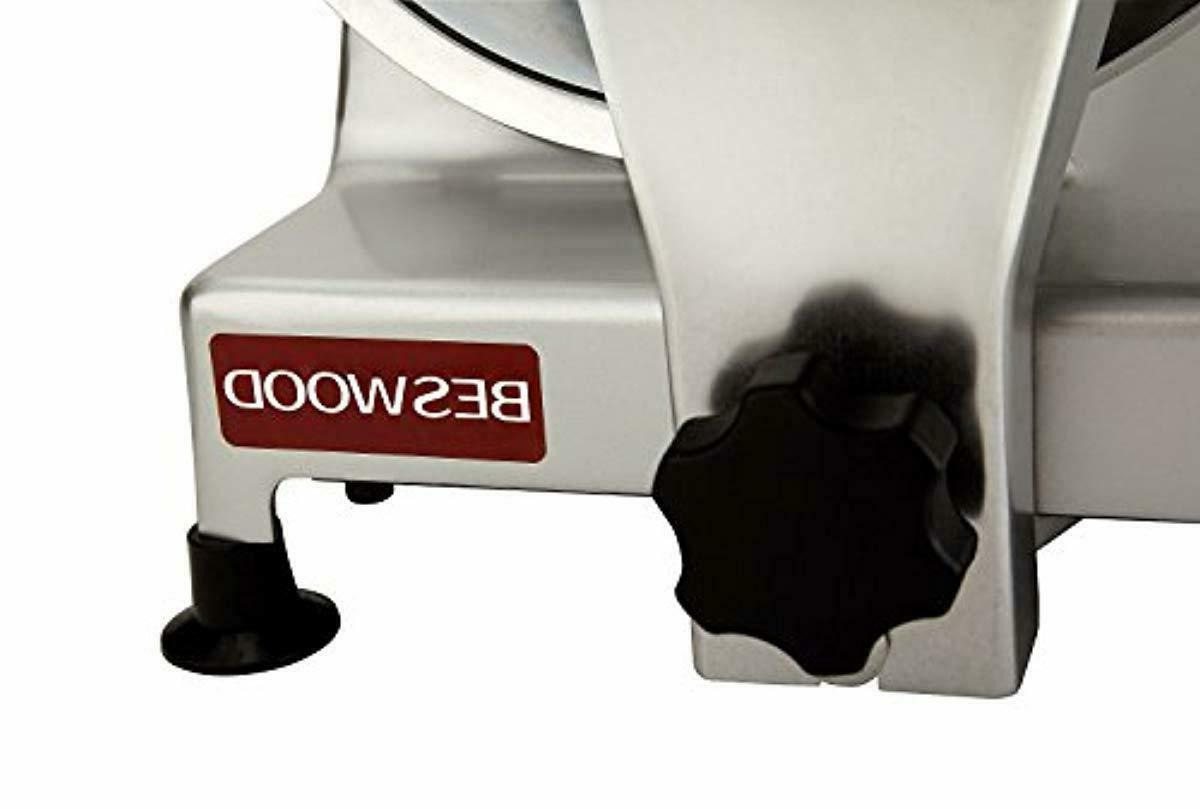 plated Electric Deli Meat Cheese Food Slicer BESWOOD250