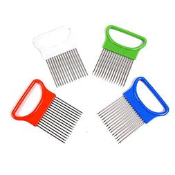 New Onion Tomato Vegetable Slicer Cutting Aid Guide Holder F