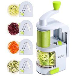 Spiralizer Vegetable Slicer  Heavy Duty Veggie Spiralizer wi